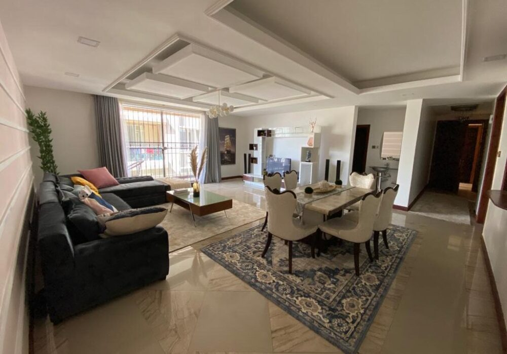 FULLY FURNISHED 3BRM HOUSE IN KILIMANI.